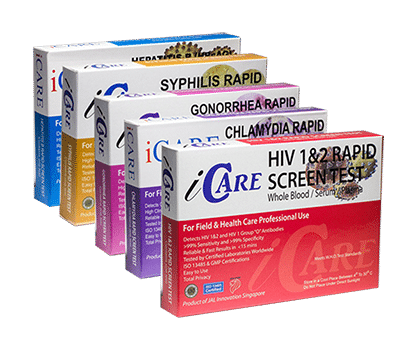 iCare HIV and STD home testing package