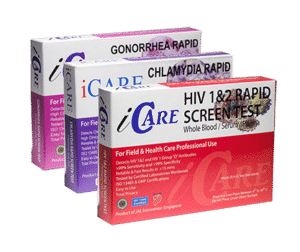 iCare std home test kit small package